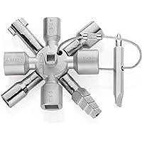 KNIPEX TwinKey Chiave universale per quadri ed armadi elettrici per tutti i sistemi di chiusura più comuni (92 mm) 00 11…