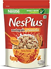 Nestle NesPlus Breakfast Cereal, Multigrain Granola – Nutty Honey, 235 Grams