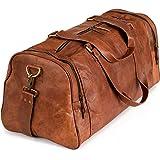 Berliner Bags Borsone Pelle Bergen XL Weekender per Palestra Viaggi Uomo Donna Vintage Marrone