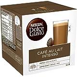 Nescafé Dolce Gusto Café au Lait Intenso - Café - 96 Capsules (Pack de 6 boîtes x 16)