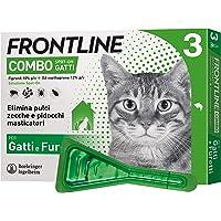 Frontline | Combo Spot On Gatti e Furetti | Protezione da pulci, pidocchi, zecche, uova e larve di pulci | 3 Pipette | 0.5 ml