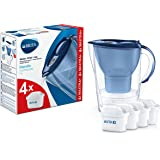 Marella Blu Carafe filtrante pour eau, kit de 4 filtres Maxtra+ inclus