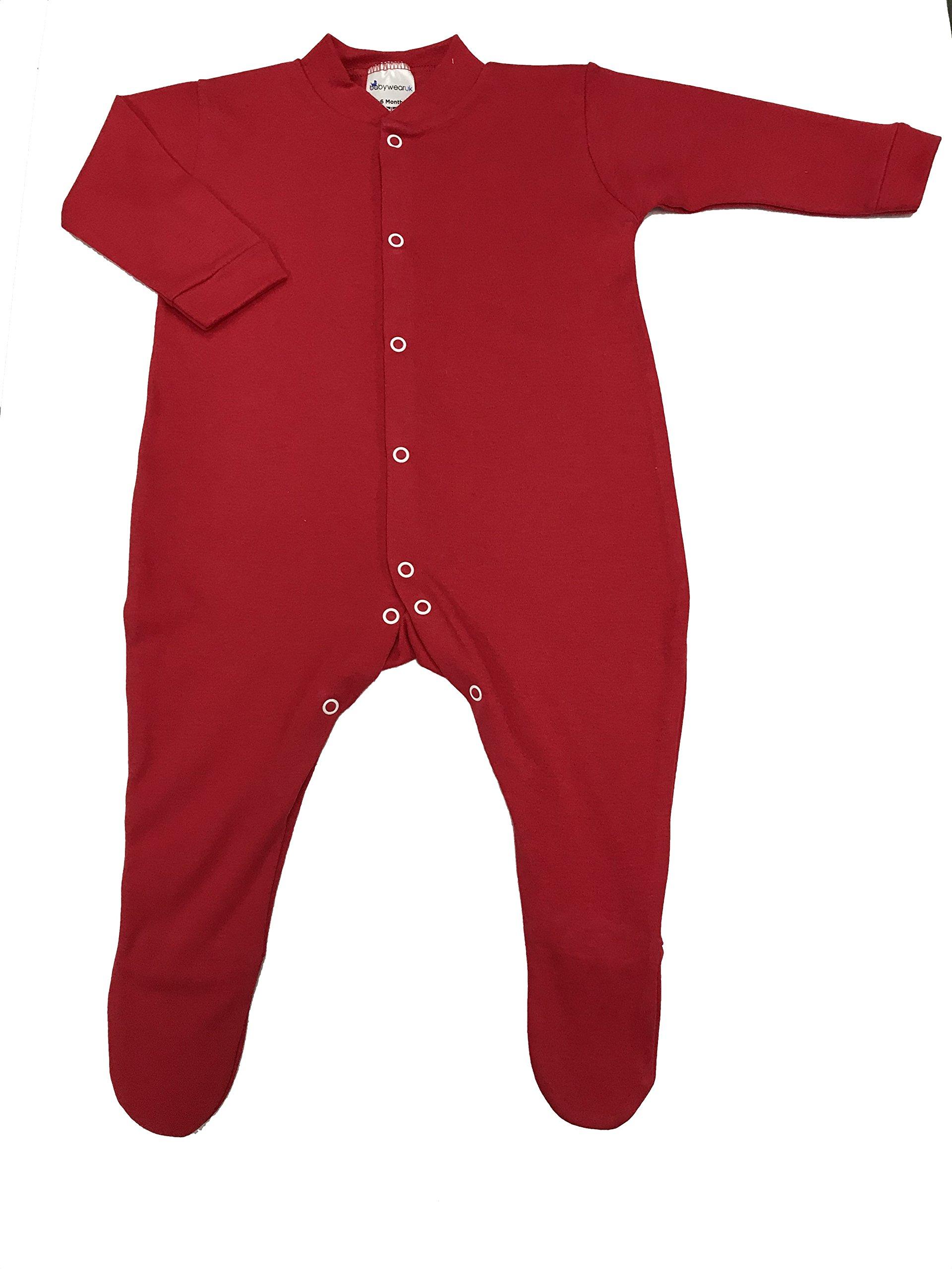 babywearuk Pijama de rojo British Made rojo rojo Talla:Prem 1
