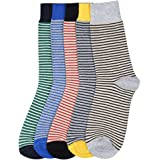 STOP to start by Shoppers Stop Men Striped Socks (Set Of 5)