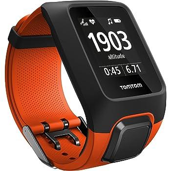 Orologio GPS multisport TomTom 1RKM.000.00 Adventurer con cardiofrequenzimetro integrato, lettore musicale, altimetro, bussola ecc., Arancione