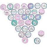 30 Piezas Unicornio Colorido Insignia de Botones Pin Broche de Unicornio para Infantiles niños Unicornio Fiestas de cumpleaño