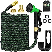 Garden Hose Pipes Expandable 25ft, Flexible Hose Pipe Expanding Water Hose Magic Hose with Brass Fittings/8 Function…