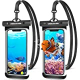 UNBREAKcable Waterproof Phone Case,2-Pack IPX8 Universal Waterproof Phone Pouch Dry Bag for iPhone 12 11 Pro Max XR X XS SE 2
