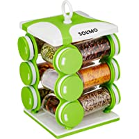 Amazon Brand - Solimo Revolving Spice Rack set (12 pieces)