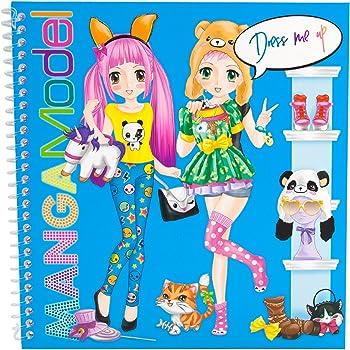 Depesche 8519–libro Sticker Dress Me Up Manga Model, circa 18x 17.5x 1cm