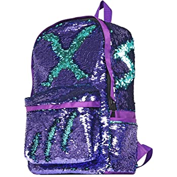 90674ef54d6a YOUTHUNION Reversible Magic Sequin Backpack School Bags