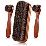 Jovitec 3 Pieces Horsehair Shoes Polish Brushes Care Clean Daubers Applicators (Set C)