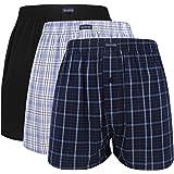 VANEVER Cotton Men's Boxers, Woven Boxer Shorts, Men's Knit Boxer Briefs, Men's Plaid Boxershorts, Loose Fit Boxer Underwear,