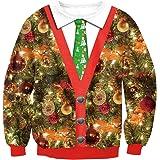Veni Masee - Maglione da donna a maniche lunghe, girocollo, per Natale, casual, feste e balli (M-2XL)