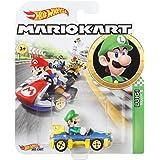 Hot Wheels - Mario Kart, Luigi, Vehiculos, Coche de juguete (Mattel GBG27) , color/modelo surtido