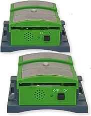 ISOTRONIC Marderschreck/Katzenschreck mit Ultraschall, LED, Hochspannung, Marderschutz batteriebetrieben für Auto, Haus, Garage, Carport - Marder, Mäuse und Katzen vertreiben