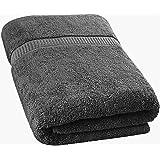 Utopia Towels - Badetuch groß aus Baumwolle, Einzelpackung 600 g/m² - Duschtuch, 90 x 180 cm (Grau)