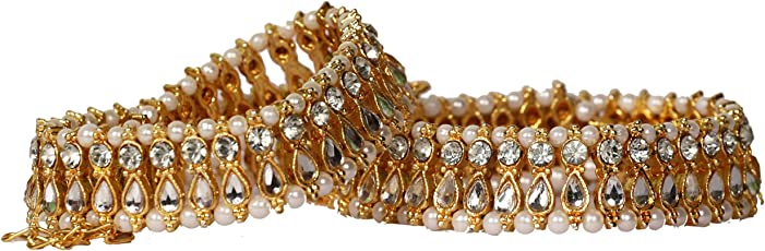 OMIAX™ Golden Pearl And Beads Anklet For Women