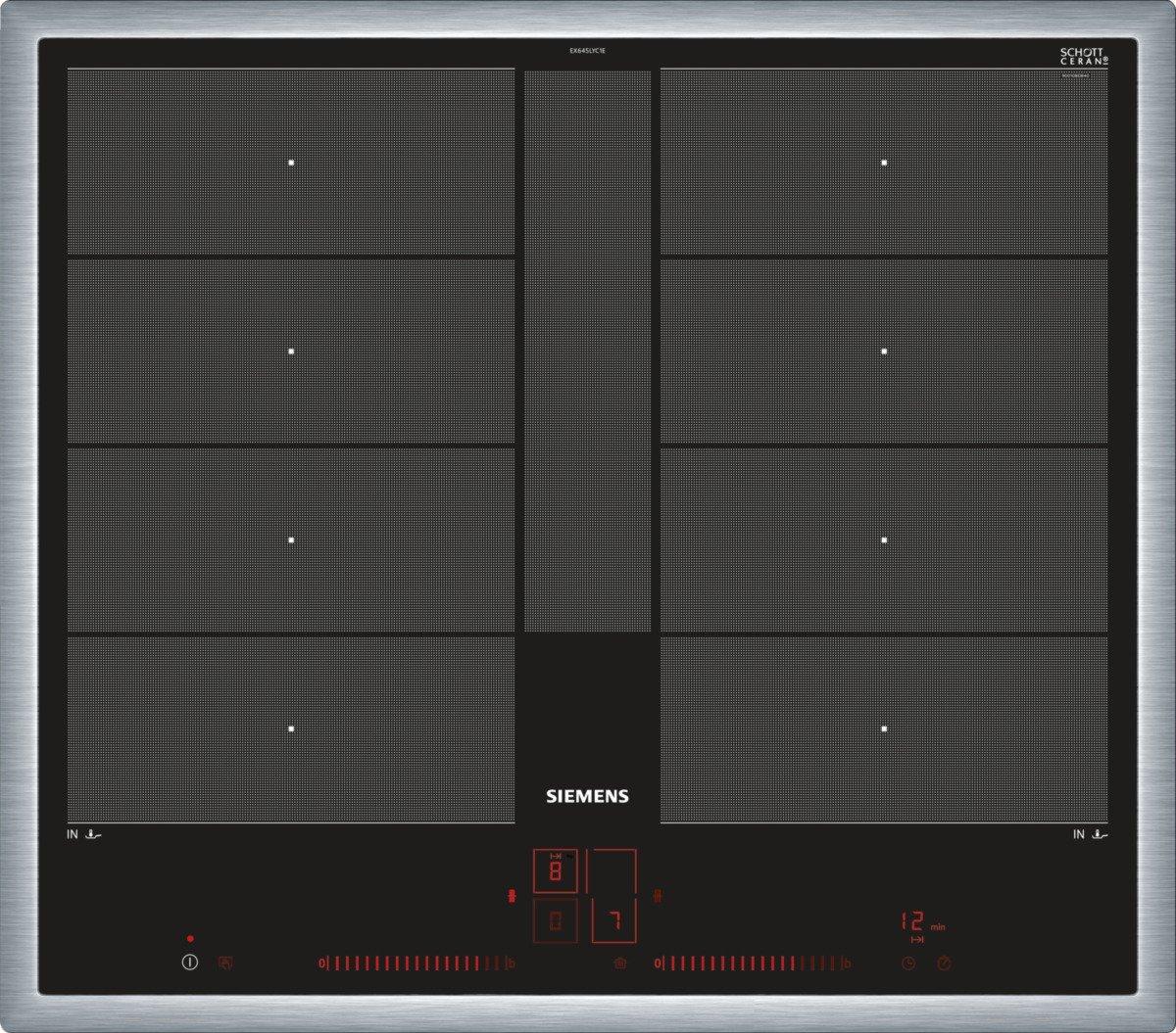 Siemens EX645LYC1E iQ700 Induktionskochfeld, 58,3 cm, Power Boost Funktion, schwarz