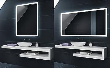 KALTWEIß 50x70 / 70x50 cm Design Badspiegel mit LED Beleuchtung ...