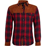 shelikes Unisex Mens Fleece Sherpa Fur Lined Lumberjack Hood Check Quilted Thermal Shirt