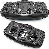 Elitum Vibrationsplatte PX500 Vibrationsgerät USB-Anschluss + USB-Stick Lautsprecher Fernbedienung Massagezone 5 Programme 99 Intensitätsstufen