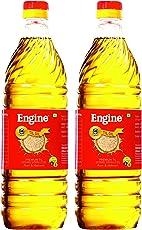 Engine Brand Sesame Oil (Cold Pressed), 1 Litre (Pack of 2)