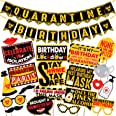 Wobbox Quarantine Birthday Photo Booth Party Props and Banner Pack Combo