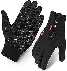 Touchscreen Handschuhe, Radfahren Handschuhe Outdoor Sport Fahrradhandschuhe Wasserdicht und Winddicht Ajustable Größe Für Herren und Damen Laufen Fahren Skifahren Skating Klettern