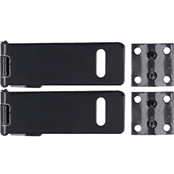 to Be Used in Conjunction with A Padlock 75mm Small Black Hasp /& Staple