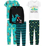 Simple Joys by Carter's Niños pijama de satén, Pack de 6