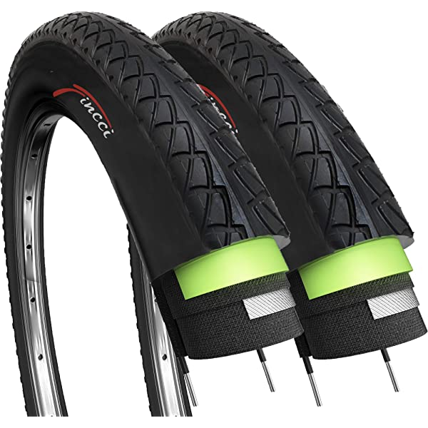 1 OF COLOURED 700 X 38 TYRE TIRE BLACK W// REFLECTOR PUNCTURE PROT 29ER x 1.50