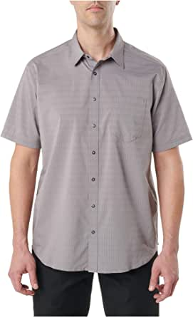 5.11 Tactical Men's Aerial Short Sleeve Casual Button-Down Polo Shirt, Polyester, Style 71378
