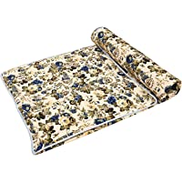 SWIYAM Multicolor Floral Printed Double Bed Reversible AC Blanket/Dohar for Home