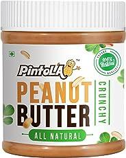 Pintola All Natural Crunchy Peanut Butter, 350G (Unsweetened, Non-GMO, Gluten Free, Vegan)