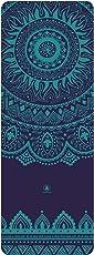 HOMFA Yoga Matte Rutschfest XXL Dicke aus Naturkautschuk 2-in-1 von Matte und Handtuch ideal für Hot Yoga Bikram Ashtanga 1850 x 680 x 4mm