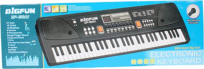 Planet of Toys 61-Keys Electronic Keyboard with Record and Digital Display and Mike for Boys and Girls