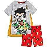 Teen Titans Go! Pijama Niño, Ropa Niño para Dormir, Conjunto 2 Piezas Camiseta Manga Corta y Pantalon Corto Niño, Regalos par