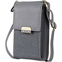 Katech Handy Umhängetasche Damen, Mini Bag für Handy Frau Pu Leder Schultertasche Brieftasche Elegant Handytasche mit…
