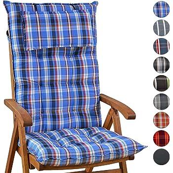 Auflagen fuer Hochlehner Sun Garden TOMIRO 50077-131 in blau Kissen Sitzkissen