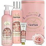 Coffret Cadeau Femme: Coffret Beaute Femme 1 Gel Douche 250ml, 1 Creme Main 25ml, 1 Lait Corps Hydratant 200ml Un Air d'Antan
