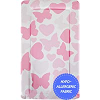 Baby Changing Mat - Brand New Soft Padded Deluxe Large Waterproof Change Mats (Butterflies & Hearts)