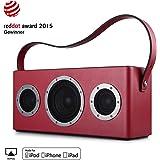 GGMM M4 Multiroom-Lautsprecher Tragbar WiFi/Bluetooth/AUX, 2.1 Stereomusiksystem,40W, Bass, Mfi-verifiziert, Airplay, DLNA, Spotify, rot