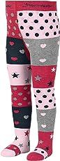 Sterntaler Strumpfhose mit Sternen und Herzen für Mädchen, Alter: 3-4 Monate, Größe: 62, Pink (Perlrosa)