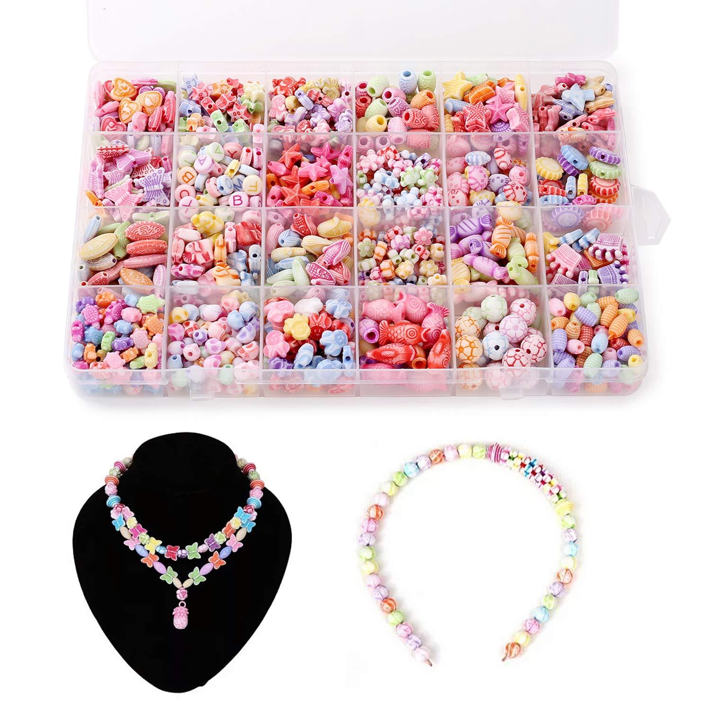 aliexpress venduto in tutto il mondo grandi affari 2017 Perline colorate per collane, 24 stili fai da te per bambini ...