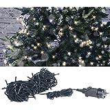 Lunartec Weihnachtskerzen: LED-Lichterkette mit 160 LEDs für innen & außen, IP44, warmweiß, 16 m (Lichterkette Kerzen)