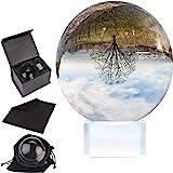 Belle Vous K9 Sfera di Cristallo per Foto 80mm-8cm Palla di Vetro con Supporto Cristallo, Custodia Velluto, Panno Microfibra,