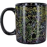 Rick & Morty Heat Change Mug   Sensitive to Hot Drinks   Colour & Design Changes When Hot   Magic Colour Changing Coffee Tea
