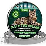 Traitement contre les puces de chat | Collier anti-puces et tiques pour chats | Imperméable - réglable - convient