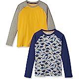 Amazon Essentials Camisetas de béisbol de Manga Larga raglán Niños, Pack de 2